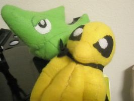 Kakuna and Metapod Plush by Vulpes-Canis