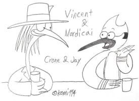 Hudsons and Watsons : Vincent and Mordicai by komi114