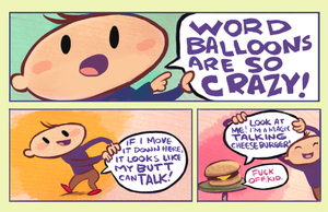 Word Balloons are so Crazy by sayunclecomics