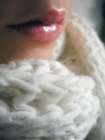 lips with white scarf by erykucciola-sToCk