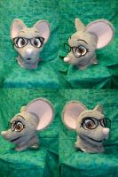Momo Mouse Head by temperance