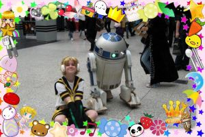 len and R2D2 purikura by olive-happy