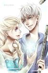 Jack Frost and Elsa by BleleimoN