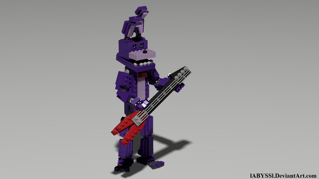 FNaF: Bonnie with his guitar by lABYSSl