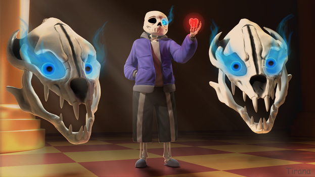 [Undertale] Sans 3D (final version) by TiranaDA