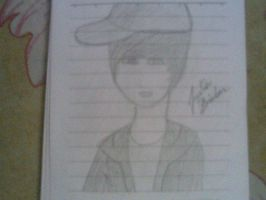 Trying to draw Justin bieber by Sandy94sandy