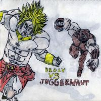 Broly Vs Juggernaut by thorman