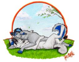 Myst and Adam Commission by blaze-huskie