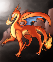 Mega Charizard Y by AllegroAlley