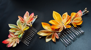 Autumn Leaves. Combs for fall. by hanatsukuri