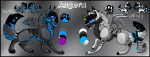 Angeru's Refrence Sheet by BipolarWolfy
