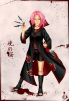 Akatsuki Sakura -colored- by PhoenixBird16