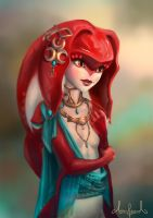 Mipha - The Legend of Zelda Breath of the Wild by Tarivanima