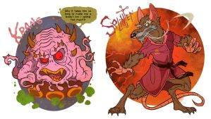 Krang and Splinter by Garvals