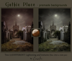 PREMIUM backgrounds - GothicPlace by Euselia