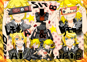 Rin and Len Remote Controller by sara-chibi