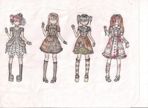 Halloween Lolita Dress Designs by KannaMay