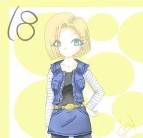 Android 18 by KittyRabbit