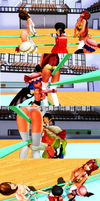 Meiko and Meilin in trouble (3) by tousato