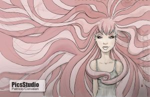 Tangled_Pink_Girl by alvintool