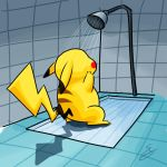 Pika having shower by PetarMKD