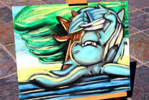 Lyra Heartstrings Pastel Painting by OstiChristian