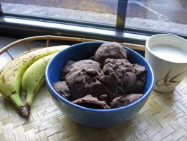 ChocoCookies + Recipe by sake-bento