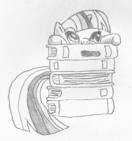 Twilight Sparkle so cute - Pen and paper by norgas