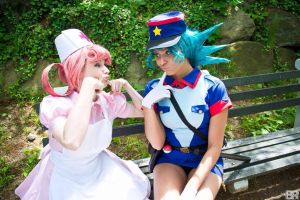 Nurse Joy and Officer Jenny by GinaBCosplay