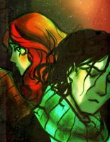 Snape and Lily 2 by pebbled