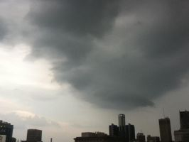 Storm Clouds over Detroit by MidnightTheCat