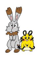 Bunnelby and Dedenne