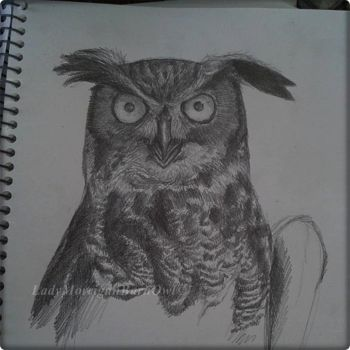 Sketching an Owl by TheMacabreHam