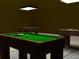 snooker table by magrozo