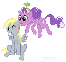 derpy x screwball by Pyritie