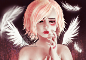 Injured angel by Nasuki100