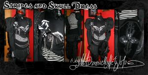 Stripes and Skull Dress by MADmoiselleMeli