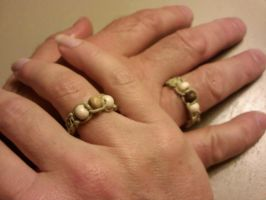 Paired Hemp Wood Rings by EllasDesigns