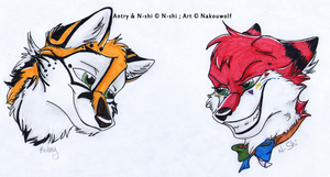 Christmas commission pack 1 - N-shi + Antry badges by Nakouwolf