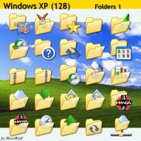 Windows XP 128 - Folders 1 by werewolfdev