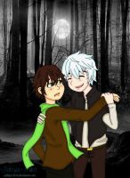 Hiccup haddock and Jack frost vampire au by Jaklyn-Frost