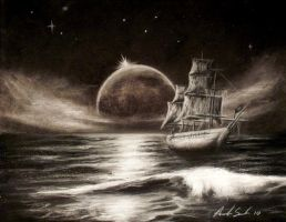 Charcoal Ghost Ship by pinsetter1991