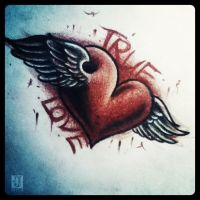 True love tattoo design by jerrrroen