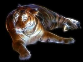 Fractal-Tiger II by Nueschi