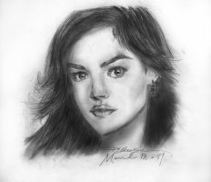 Sketch:Lucy Hale by ravenchelsea