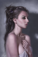 Girl portrait by ckimart