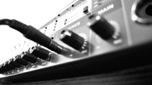 Sound studio of a friend - knobs and inputs by Krash-Team