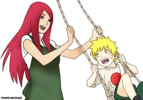 Road To Ninja Kushina and Naruto by 4thminatonamikaze