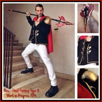 NEW Work in Progress 70% - NINE Cosplay FF Type-0 by LeonChiroCosplayArt