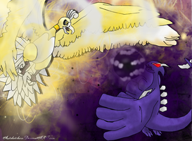 Shining Ho VS Shadow Lugia by autobotchari